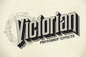 12种复刻十九世纪文本图层样式 Photoshop Victorian Styles插图1