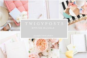 小清新女性主题场景背景照片集 Spring Styled Stock Photos插图2