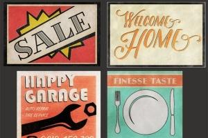 19世纪40-50年代复古风格广告设计图层样式 Shine On – Retro Advertisement Kit插图5
