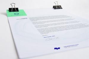 A4企业信纸信笺信头设计样机01 A4 Letterhead Mockup 01插图1