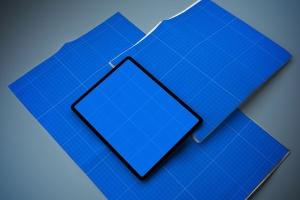 电子版报纸版式设计效果图样机 Newspaper App MockUp插图12