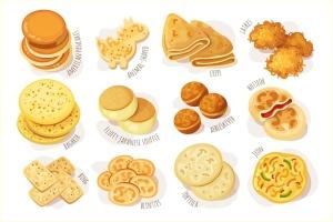 美味的薄煎饼美食矢量设计素材 Delicious Pancakes插图3
