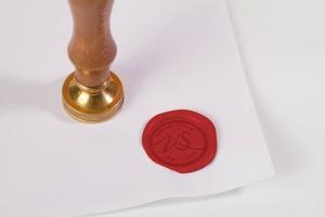 复古信笺蜡封印章设计样机 Wax Seal Stamp Mock Up插图1