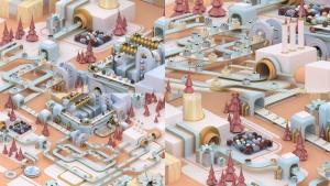 3D建模圣诞节主题概念工厂场景PNG素材 Christmas Factory插图2