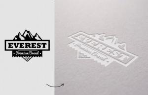 Logo品牌商标凹印效果图样机模板 Digged Paper Mockup插图2