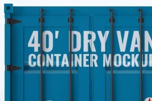 40英尺集装箱外观图案设计样机模板 40ft Dry Van Container Mock-up插图4