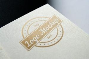 烫印烫金Logo样机模板 Logo Mock-Up插图5