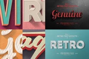 经典复古文本图层样式v1 Vintage Text Effects Vol.1插图5