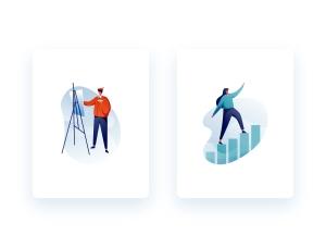 一流设计素材网下午茶:有创意的教育主题插画矢量素材下载[Ai]插图4