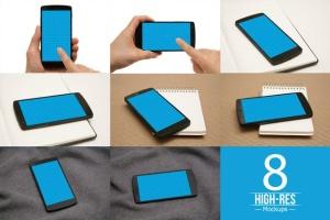 手机UI&APP设计演示样机套装 8 Phone Mockups插图2