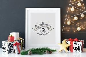 圣诞快乐&新年主题T恤印花图案设计素材 Merry Christmas and New Year T-Shirt. Xmas Print插图(4)