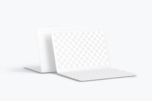 MacBook笔记本电脑屏幕预览图样机模板 Clay MacBook Mockup插图2