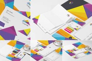 品牌设计展示办公文具等距场景样机 Stationery Mockup Set插图1
