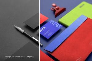高端黑办公用品套装品牌VI设计效果图样机 Blck Branding Mockup Kit插图9