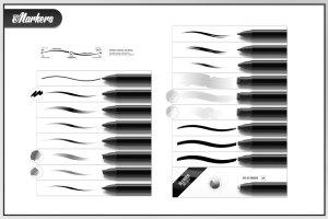 一组灵活简单方便的PS马克笔笔刷 RM Digi Markers插图(3)