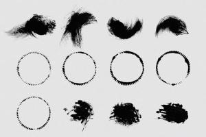111个非凡令人着迷的PS画笔笔刷 Swirls & Strokes Brushes Set插图3