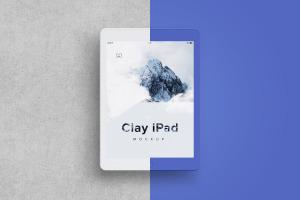 iPad平板电脑屏幕界面设计演示预览效果样机02 Clay iPad 9.7 Mockup 03插图4
