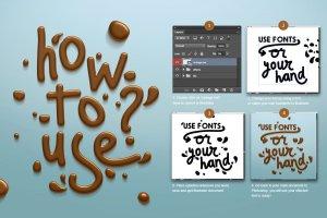 丝滑巧克力质感PS字体样式 Chocolate text effect插图7