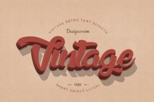 14个复古风格立体特效PS字体样式 14 Vintage Retro Text Effects插图6
