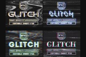 复古老电视失真信号故障PS字体样式Vol.II Photoshop Glitch Text Effects Vol. II插图14