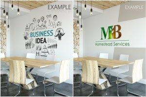 办公室墙纸设计样机模板合集 OFFICE Interior Wall Mockup Bundle插图18