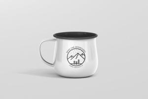 高分辨率圆形珐琅杯子样机 Round Enamel Mug Mockup插图5