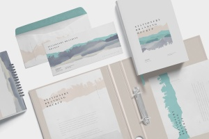 企业品牌VI设计预览办公用品样机模板 Stationery Branding Mockup Scenes插图5
