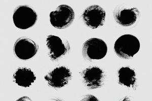 111个非凡令人着迷的PS画笔笔刷 Swirls & Strokes Brushes Set插图5