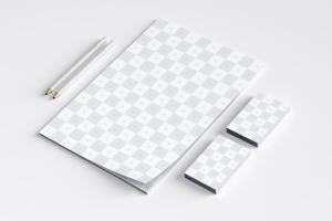 品牌VI设计案例预览办公用品套装样机03 Stationery Mockup 03插图5