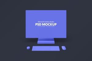 微软一体机Surface Studio样机模板v2 Microsoft Surface Studio Mockups v.2 – Photoshop插图4