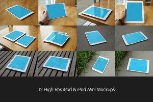 逼真 iPad 平板电脑样机 Realistic iPad & iPad Mini Mockups插图3