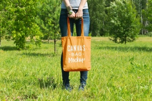 帆布手提袋样机模板 Canvas Bag Mockup插图1