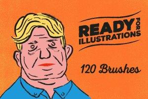 120款手绘画笔AI笔刷大合集 120 Brush Pens for Adobe Illustrator插图4