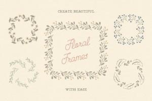 花卉元素图案AI笔刷 Floral Pattern Brushes For Illustrator插图3