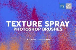 12款油漆喷涂纹理PS笔刷 12 Texture Spray Photoshop Brushes插图(1)