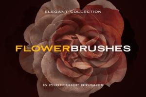 15款优雅花卉图案PS笔刷 Elegant Flower Brushes for Photoshop插图9