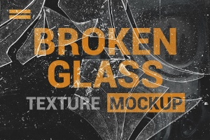 破碎玻璃效果PS图层样式PSD分层模板 Broken Glass Texture Mockup插图4