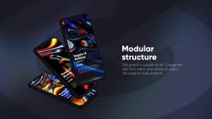 黑色iPhone手机UI界面设计效果图等距网格样机模板 Dark iPhone Mockup插图11