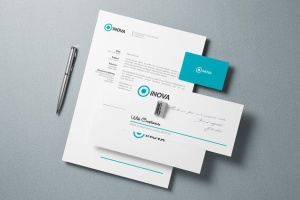 企业品牌VI设计办公文具样机模板v1 Branding / Identity Mock-up插图3