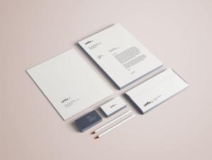 高端品牌VI设计办公用品预览样机PSD模板 Full Branding & Identity Mockup PSD插图2