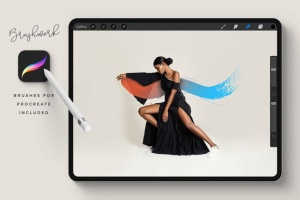 100个艺术印章画笔PS&Procreate笔刷 Brushwork: Artistic Procreate & Photoshop brushes插图(6)