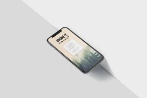 iPhone X智能手机多角度屏幕预览样机模板 iPhone X Mockup插图5