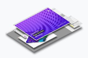 桌面应用程序APP界面设计效果图样机02 Desktop App Screen Mockup 02插图2