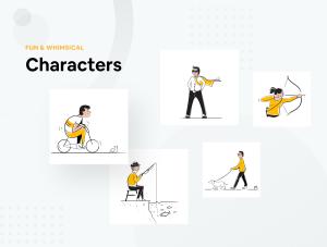 一流设计素材网下午茶:生活方式时尚矢量概念插画素材下载[Sketch,AI,Fig]插图2