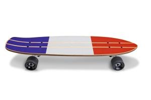 滑板顶部设计正面预览图样机02 Skate_Board-02_Mockup插图6