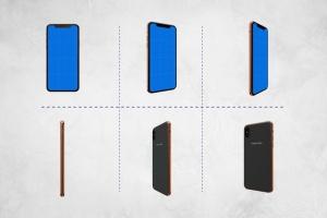 360度全方位 iPhone X 样机模板 iPhone X Kit Mockup插图4