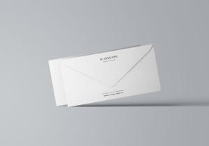 企业信封设计图样机模板 Baronial DL Envelope Mockup插图7
