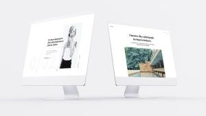 网站UI界面设计效果图预览白色iMac电脑样机模板 White iMac Mockup插图14
