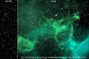 太空星云设计PS笔刷 Nebula Photoshop Brushes插图2