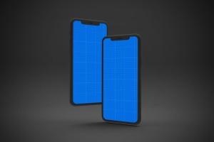黑色背景iPhone 11智能手机屏幕预览样机 Dark iPhone 11 Mockup插图11